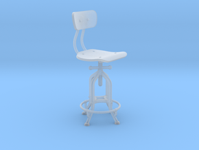 1:24 Industry Stool in Smooth Fine Detail Plastic