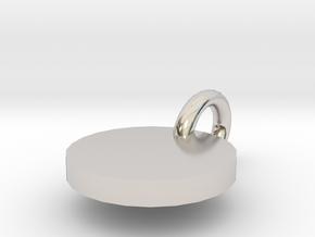 Minimalist Necklace Pendant - Necklace Charm Tag in Platinum