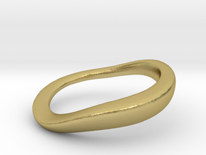 RING STACK Round  V32 middle in Natural Brass