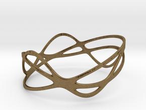 Harmonic Bracelet (67mm) in Raw Bronze