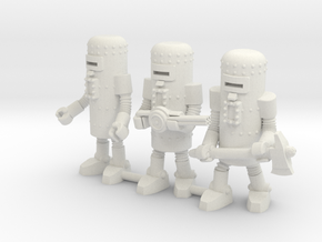 Dr. Satan's Robot Squad in White Natural Versatile Plastic: Small
