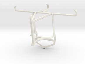 Controller mount for PS4 & Huawei Y9 Prime (2019)  in White Natural Versatile Plastic