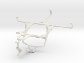 Controller mount for PS4 & Samsung Galaxy Xcover 4 in White Natural Versatile Plastic