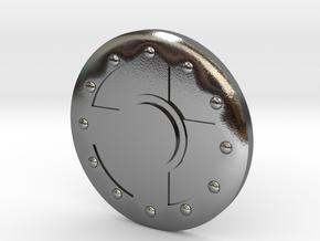 Warrior Shield Earring 10mm in Polished Silver