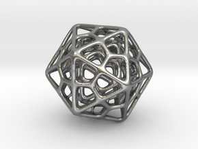 Double Icosahedron Silver in Natural Silver