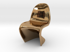 """Panton Chair 1:10 (1/2"""") Scale  in Polished Brass"""