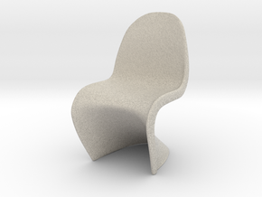 "Panton Chair 1:10 (1/2"") Scale  in Natural Sandstone"