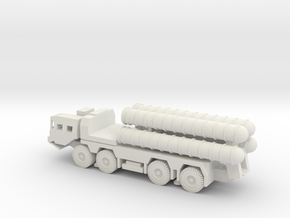 1/100 Scale MAZ-543 SA-300 Missile Launcher type a in White Natural Versatile Plastic