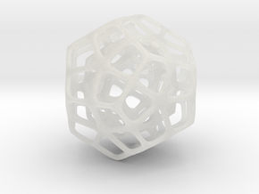 Double Dodecahedron Silver in Smooth Fine Detail Plastic
