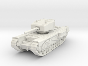 Churchill III 6pdr 1/100 in White Natural Versatile Plastic