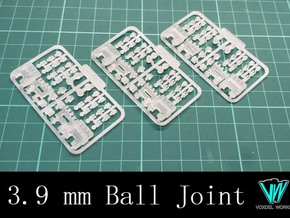 Articulated Hand - Type I (3.9mm ball joint)  in Smooth Fine Detail Plastic