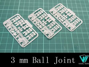 Articulated Hand - Type I (3mm ball joint)  in Smooth Fine Detail Plastic