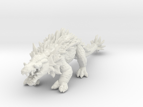 Lizzy Giant Crocodile monster DnD miniature games  in White Natural Versatile Plastic