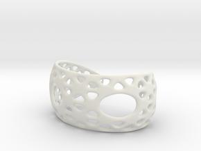 Snub Bracelet in White Strong & Flexible