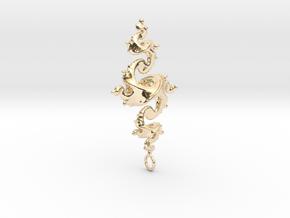 Dragon Pendant 4cm in 14K Yellow Gold