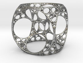 Apollonian Cube in Natural Silver