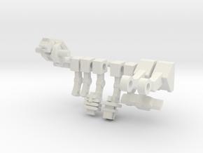 Rom Microclone Driver in White Natural Versatile Plastic