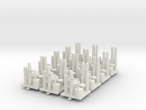 Oil Refinery Set of 12 in White Natural Versatile Plastic