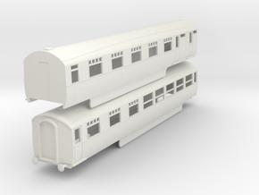 0-87-lner-silver-jubilee-A-B-twin-coach in White Natural Versatile Plastic