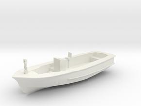Life Boat Hull 9cm long V11 Hull & Interior combin in White Natural Versatile Plastic