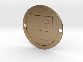 Facebook Custom Sideplate in Polished Gold Steel