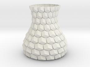 Honeycomb Planter in White Natural Versatile Plastic