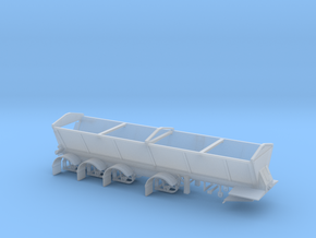 1/87th Live bottom quad axle dump trailer in Smooth Fine Detail Plastic