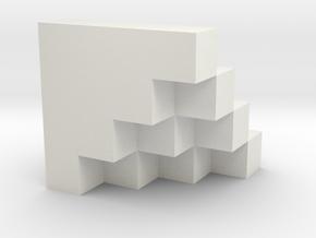 Sum of Squares 3 in White Natural Versatile Plastic