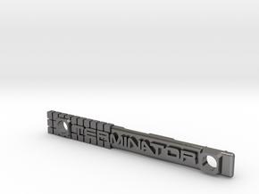 Terminator M-Lok Vanity Badge for RIfle Rail in Polished Nickel Steel