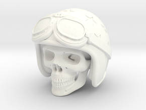 Easy Rider Skull (50mm H) in White Processed Versatile Plastic