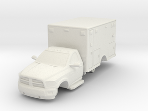 1/87 Dodge 2 Door Medic/Ambulance in White Natural Versatile Plastic