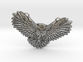 Owl Charm in Antique Silver
