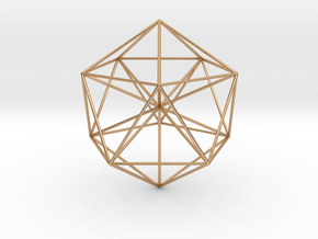 Icosahedral Pyramid in Polished Bronze