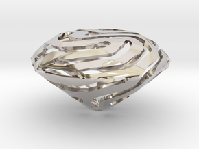Nature made Diamond in Rhodium Plated Brass
