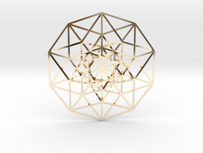 5D Hypercube small in 14K Yellow Gold