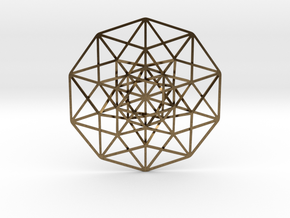 5D Hypercube small in Natural Bronze
