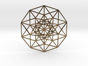5D Hypercube small in Raw Bronze