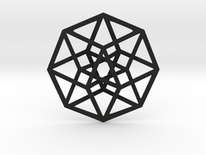 4D Hypercube (Tesseract) in Black Strong & Flexible