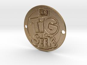 Tig n' Seek Sideplate in Polished Gold Steel