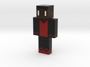 Blue_Eyed_Black | Minecraft toy in Natural Full Color Sandstone