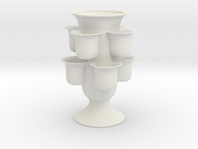Vertical Garden Vase in White Natural Versatile Plastic