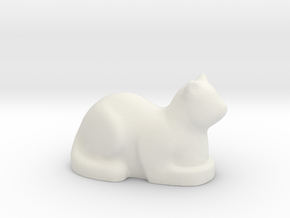 Stylized Cat in White Natural Versatile Plastic
