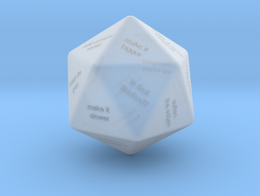 VFX Supervisor D20 Feedback Dice in Smoothest Fine Detail Plastic