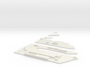 1/3000 Scale Hunters Point Naval Shipyard NE in White Natural Versatile Plastic