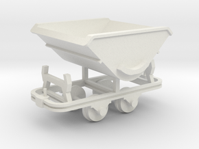 Feldbahn Kipplore - 1:35 in White Natural Versatile Plastic