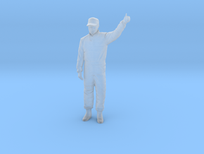 1/32 Racing Driver Good Luck Pose in Smooth Fine Detail Plastic