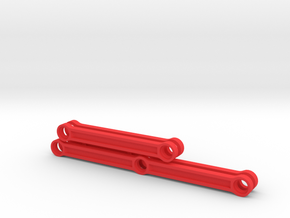 Rods for Lego BR10 steam locomotive in Red Processed Versatile Plastic