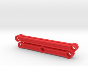 Rods for Lego BR80 steam locomotive in Red Processed Versatile Plastic