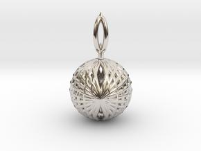 Wire Globe Pendant  in Platinum