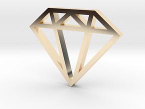 Diamond Pendant 1 Inch in 14K Yellow Gold
